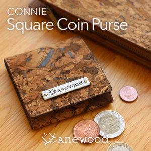 手のひらやポケットにも収まるコンパクトなコインケース「CONNIE Square Coin Purse」