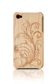 Wooden Case for iphone4 - Illustration