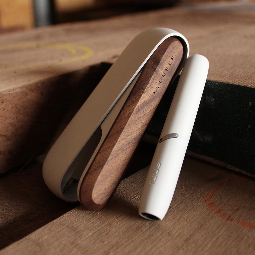 IQOS3用木製ドアカバー ホワイト×ウォールナット