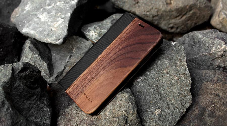 手帳型の木製アイフォンケース、iPhone XS/X専用フリップケース