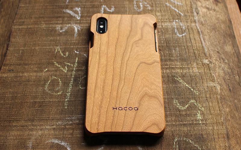 木を削り出して作った木製iPhone XS Max用ケース。