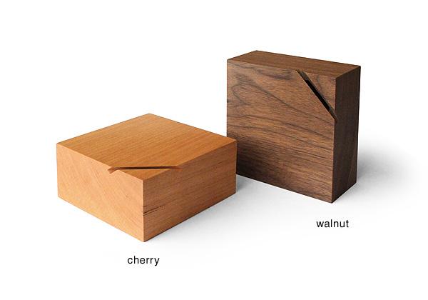 木製貯金箱 チェリー&ウォールナット