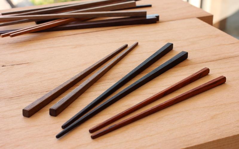 2k540店 無垢の箸+箸置きづくり ワークショップ