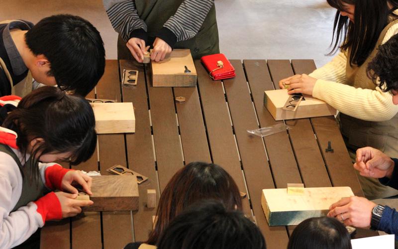 木製キーカバーづくり ワークショップ