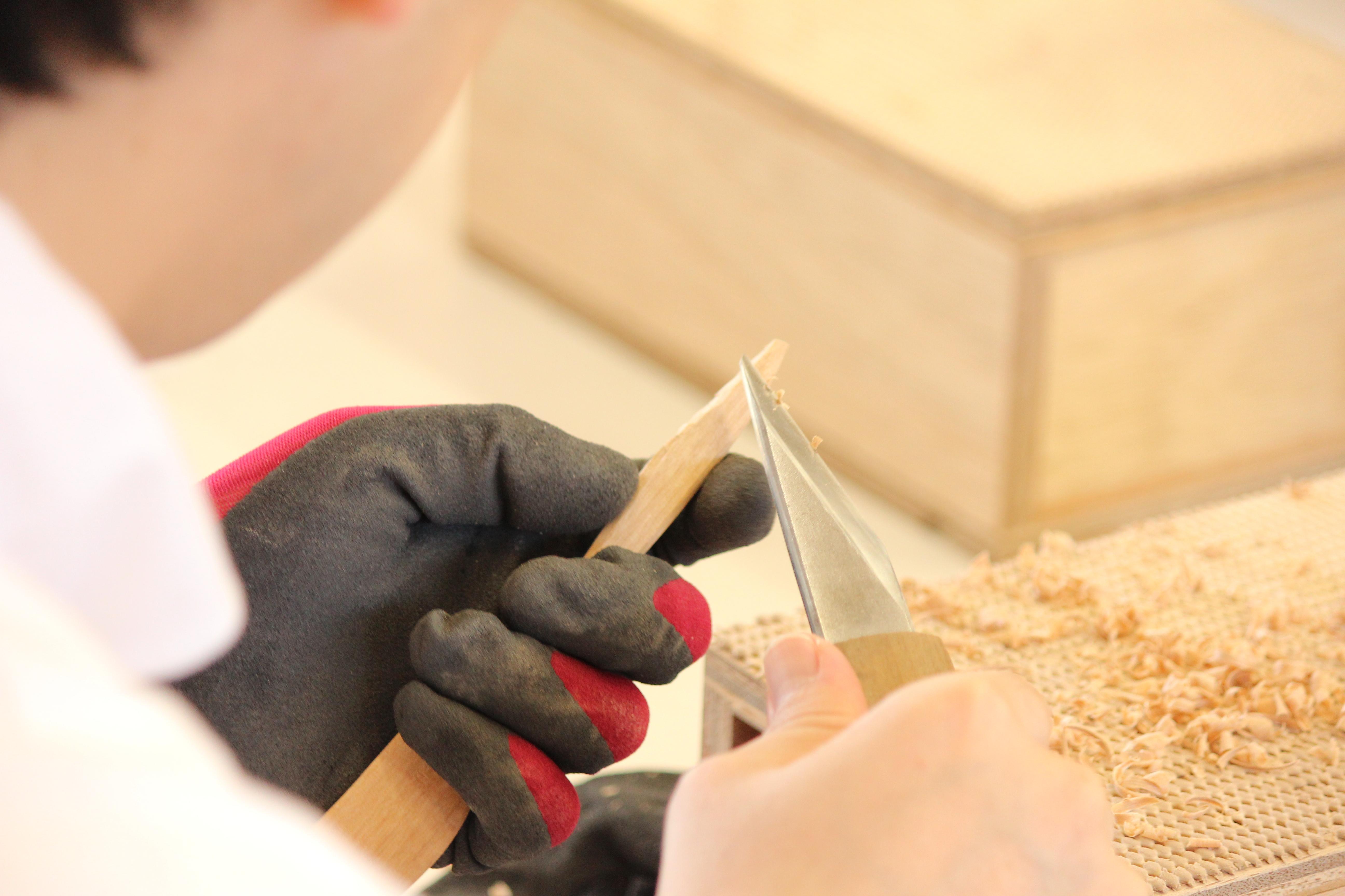 木製バターナイフづくりワークショップ