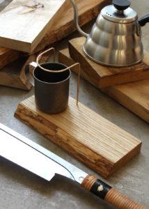 木と真鍮のコーヒードリップスタンドワークショップ