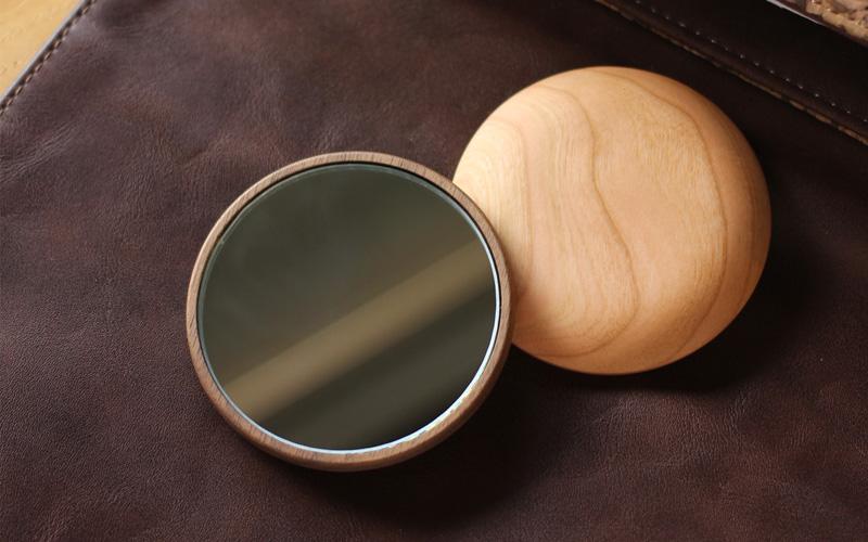木製手鏡・コンパクトミラー