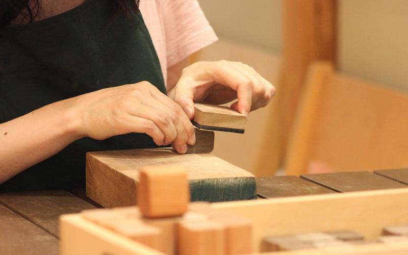 木製ネームスタンプワークショップ