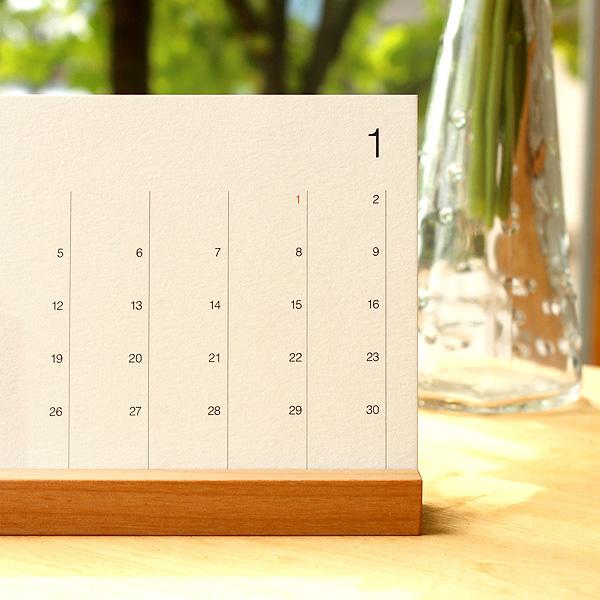 木製デスクカレンダー2020年版