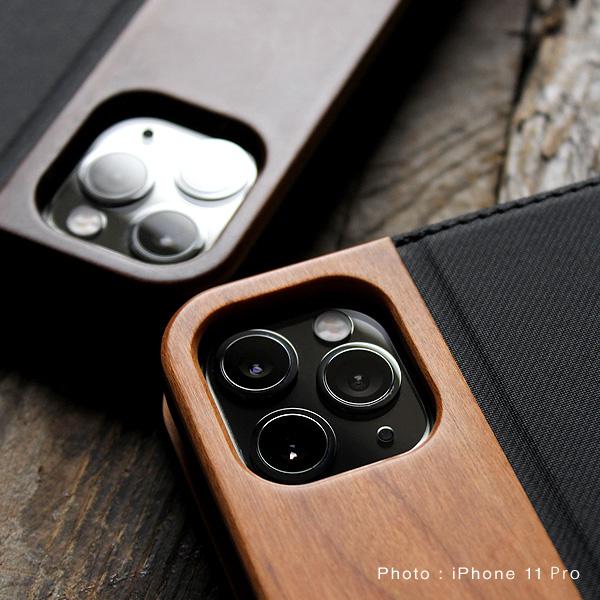 木製手帳型iPhone11カバー