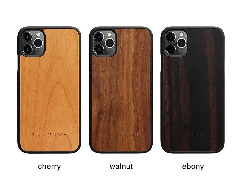 丈夫なハードケースと天然木を融合したiPhone 11用木製ケース