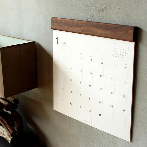 木製壁掛けカレンダー2020年版