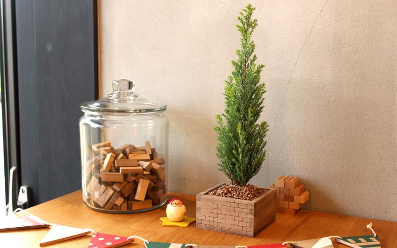 枡のクリスマスツリーづくり ワークショップ
