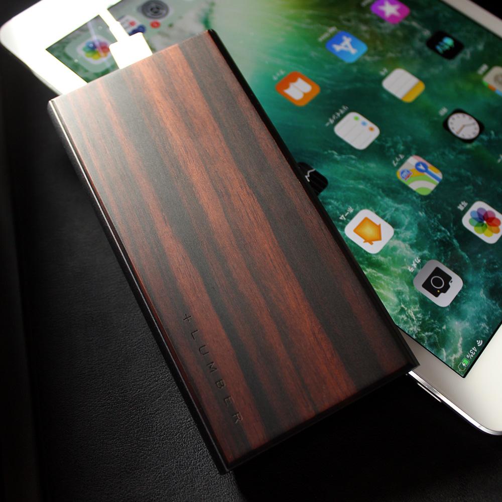 木の質感が心地よいモバイルバッテリー「POWER BANK 10000」