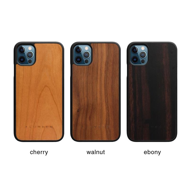 丈夫なハードケースと天然木を融合したiPhone 12用木製ケース