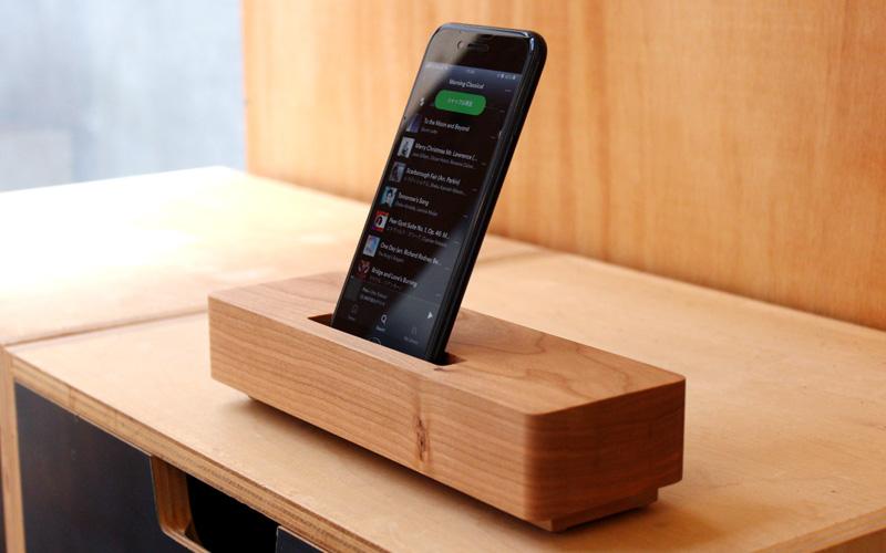 木製無電源スピーカー