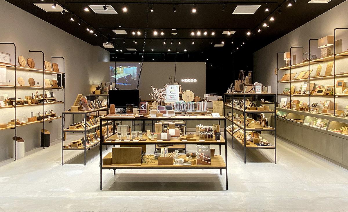 東急プラザ銀座、木製デザイン雑貨店