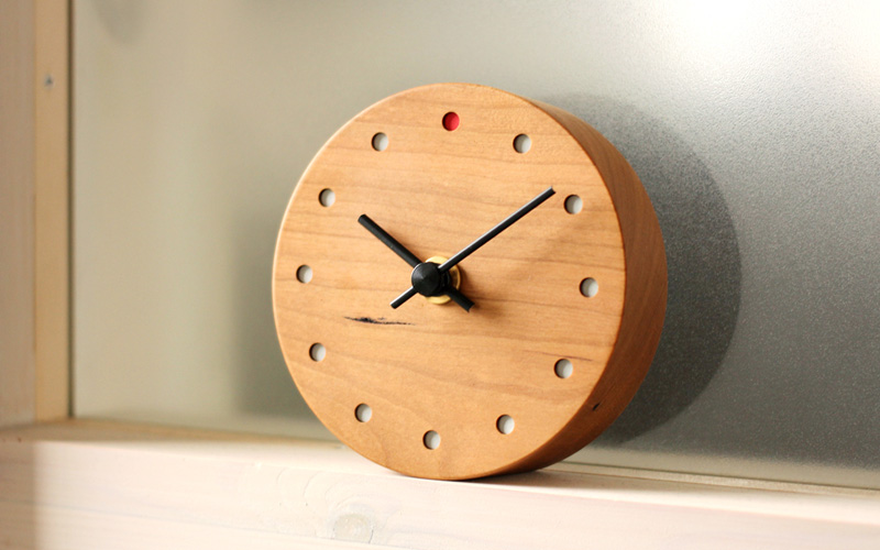 「Wall Clock Mini」おしゃれな木の置時計・壁掛け時計。結婚式・ブライダル・両親へのプレゼント・出産祝い等に