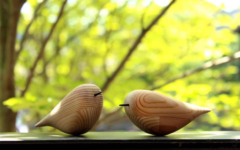 オープニングワークショップ-鳥の木彫りペーパーウェイト